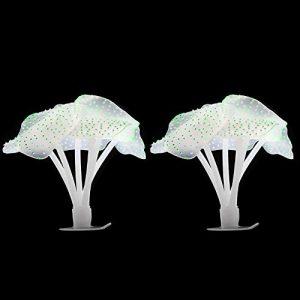 SENZEAL Lot de 2 coraux artificiels fluorescents pour Aquarium
