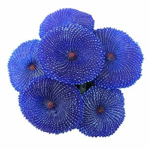 Silicone Artificielle Coral Emulational Aquarium Ornament Plants Natural Habitat Decoration for Marine Fish Tank Paysage Bleu