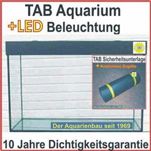 Tab Aquarium avec éclairage LED 130 x 70 x 60 cm/546 L/GL.12 mm/36 W/Décor