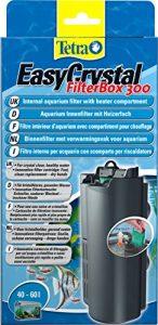 TETRA EasyCrystal FilterBox 300 – Filtre pour Aquarium de 40 à 60L – Triple filtration dont Filtre Charbon Actif – Pose et Entretien en 1 Geste – Garantie 2 ans
