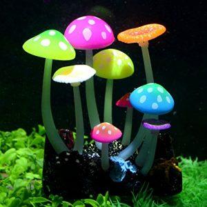 Uniclife Champignon lumineux artificiel décoratif pour aquarium