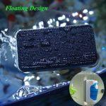 YIQI Magnetic Aquarium Fish Tank Nettoyeur pour récureur d'algues en Verre, grattoir, Brosse de Nettoyage Flottante avec 2 grattoirs, M (9,5 x 4,5 x 7 cm)
