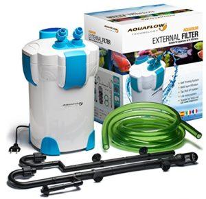 Aquaflow Technology® – AEF-302 Système de filtre externe pour Aquarium – 3 phases. Média filtrant gratuity