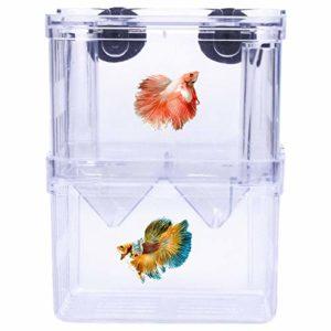 Fodlon Boîte d'élevage de Poisson, Double Couche Éleveurs Incubateur Isolation Hatchery Box