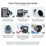 Podazz Distributeur Automatique de Nourriture pour Poissons pour Aquarium