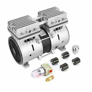 Pompe à vide de 220V 370W Oilless, pompe à vide sans huile de piston 740mmHg/-98.6kpa 80L/min pompe à vide de vide élevé