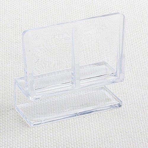 SADA72 Lot de 4 Clips Transparents en Verre pour Aquarium 6/8 / 10/12 mm, Lot de 12, 12 mm