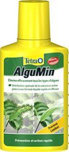 Tetra AlguMin – Elimine rapidement tous types d'algues – Traitement et prévention – Formule liquide – Préserve la flore de l'aquarium – Pour tout aquarium d'eau douce – 100 ml