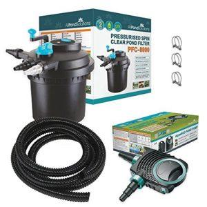 All Pond Solutions PFC-8000-Kit de Filtre Pressurisé pour Bassins à Koïs/Stérilisateur UV pour Aquariophilie