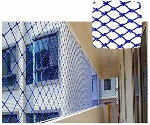 Wghz Filet de sécurité, Escalade Corde tissée Camion Cargo Filet de Corde Bleu Filet de Protection pour Windows Filet de Protection pour Balcon Escalier Filet de sécurité Balcon extérieur Filet i