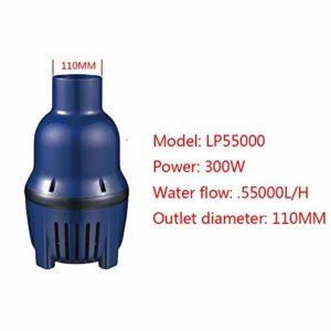 WhYlzh Série Koi Pond Circulation Poisson étang de Jardin Pompe LP Grand débit Pompe Submersible LP-LP-55000 16000 (Color : LP 55000(300W), Power : AU Adapter Plug)