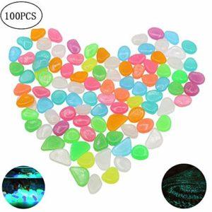 YMZ-Lot de 100 galets lumineux pour aquarium