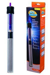 BPS® Chauffage Submersible pour Aquarium avec Thermomètre Numérique Adhésif 100W 26.5cm BPS-6052