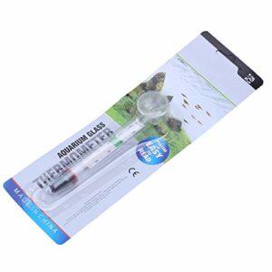 Noblik 5X Nouveau compteurs de Temperature de d'eau d'aquarium en Verre Thermometre a Ventouse