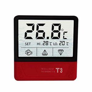 Powstro Thermomètre d'aquarium à écran tactile numérique avec grand écran LCD pour aquarium, terrarium, amphibiens et reptiles