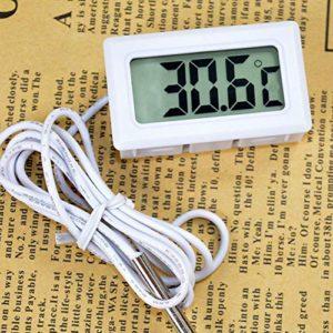 Thermomètre électronique Blssom pour aquarium, réfrigérateur avec sonde étanche – Thermomètre numérique Celsius pour réfrigérateur