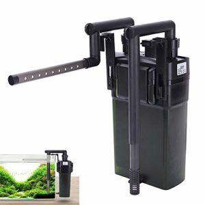 IOPJKL Filtre d'étang, Baril de Filtre de réservoir de Poissons Mural, Aquarium, réservoir d'herbe muet Externe, équipement de Filtre à oxygène((Large), 6W)