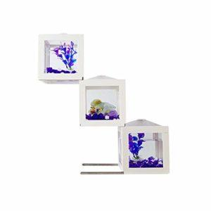 Jiangu Petit aquarium de bureau en acrylique pour décoration de salon