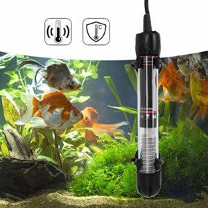 Liukouu Chauffe-Aquarium 220-240V, Petit Chauffe-réservoir réglable, Prise UE HX-906 pour Eau salée pour Eau Douce(100W)