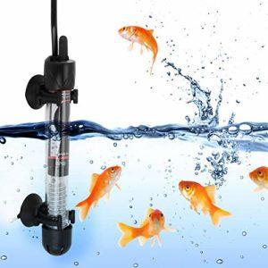 Liukouu Chauffe-Aquarium 220-240V, Petit Chauffe-réservoir réglable, Prise UE HX-906 pour Eau salée pour Eau Douce(50W)