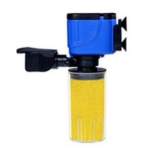 Rouku Aquarium Filtre Interne 3 en 1 Fish Tank Pompe d'oxygénation Submersible Spray Fonctionnement muet Purificateur d'eau Filtration