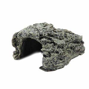 TOPINCN Poissons cachés Cave Aquarium Non-Toxique Haute Simulation Tortue Rampante Reptile Se prélassant Cacher Habitat Réservoir Décoration Ornement(Small)