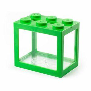 Xcute Mini aquarium à poisson USB LED pour décoration de bureau, Cylindre vert USB., Red Light