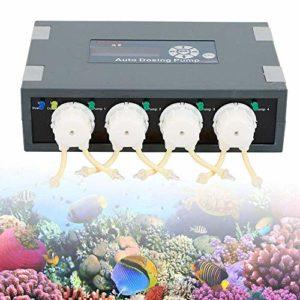 Küchenks Pompe de Dosage Automatique de Bassin de récif de Pompe de Dosage de Voiture de Canal de DP-4 Aquarium 4