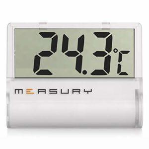 Measury Thermomètre numérique pour Aquarium, thermomètre pour Eau Douce et Eau de mer TM11