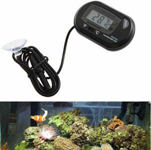Ueetek 2pcs Thermomètre digital LCD pour aquarium/vivarium Reptile Terrarium (Noir)